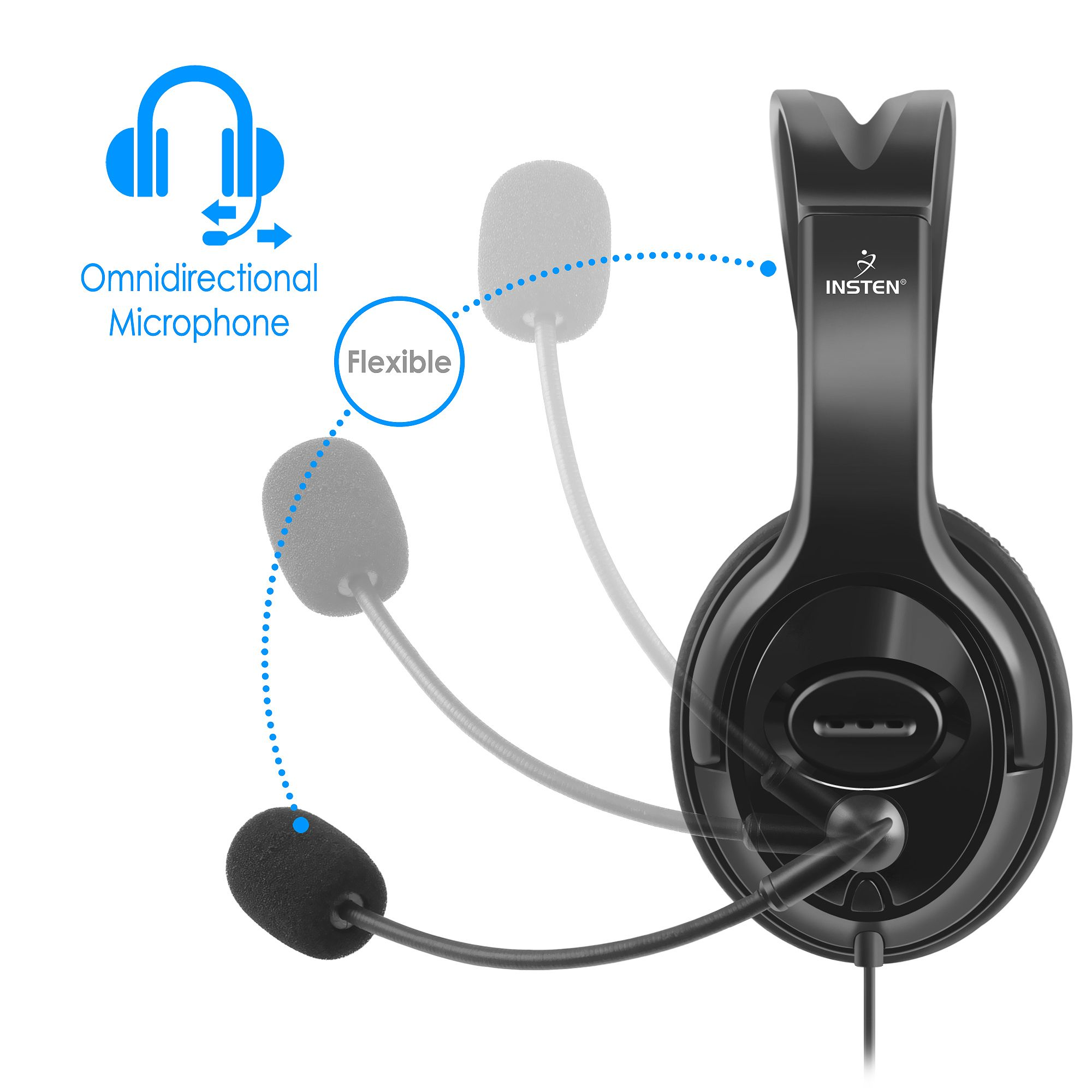 Wired Gaming Headset Earphones With Mic Microphone Stereo Bass Fleksibel Earphone Ipad Air 2 Dinner For Sony Ps4 Playstation 4 Gamers