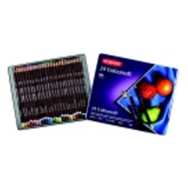 Derwent Non-Toxic Colorsoft Pencil Set With Metal Tin - Assorted Color, Set - 24