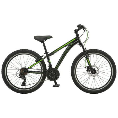 Schwinn Sidewinder mountain bike, 24-inch wheel, 21 speeds, boys, black ()
