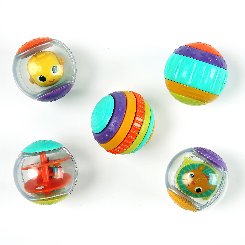 Bright Starts Shake & Spin Activity Balls Toy Image 1 of 2