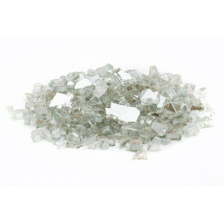 Reflective Fire Glass - Dragon Glass 10 lb Crystal Reflective Tempered Fire Glass, 1/4