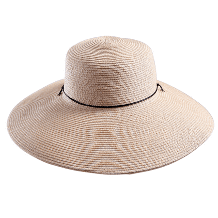 HDE Women's Sun Hat [UPF 50+] Floppy Wide Brim Derby Visor Summer Beach Cap (Beige) - White Derby Hat