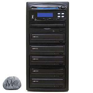 SySTOR 1:5 M-Disc Support CD DVD Duplicator + USB/SD/CF to Disc Backup Copier Tower