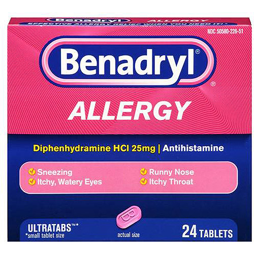 Benadryl Allergy Ultratab Tablets, 24ct