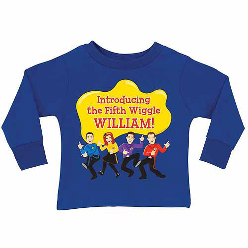 Personalized The Wiggles Fifth Wiggle Toddler Boy Royal Blue Long Sleeve Tee