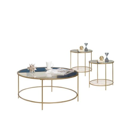 Awesome 3 Piece Coffee Table Set With Coffee Table And Set Of 2 End Table In Satin Gold Walmart Canada Download Free Architecture Designs Scobabritishbridgeorg