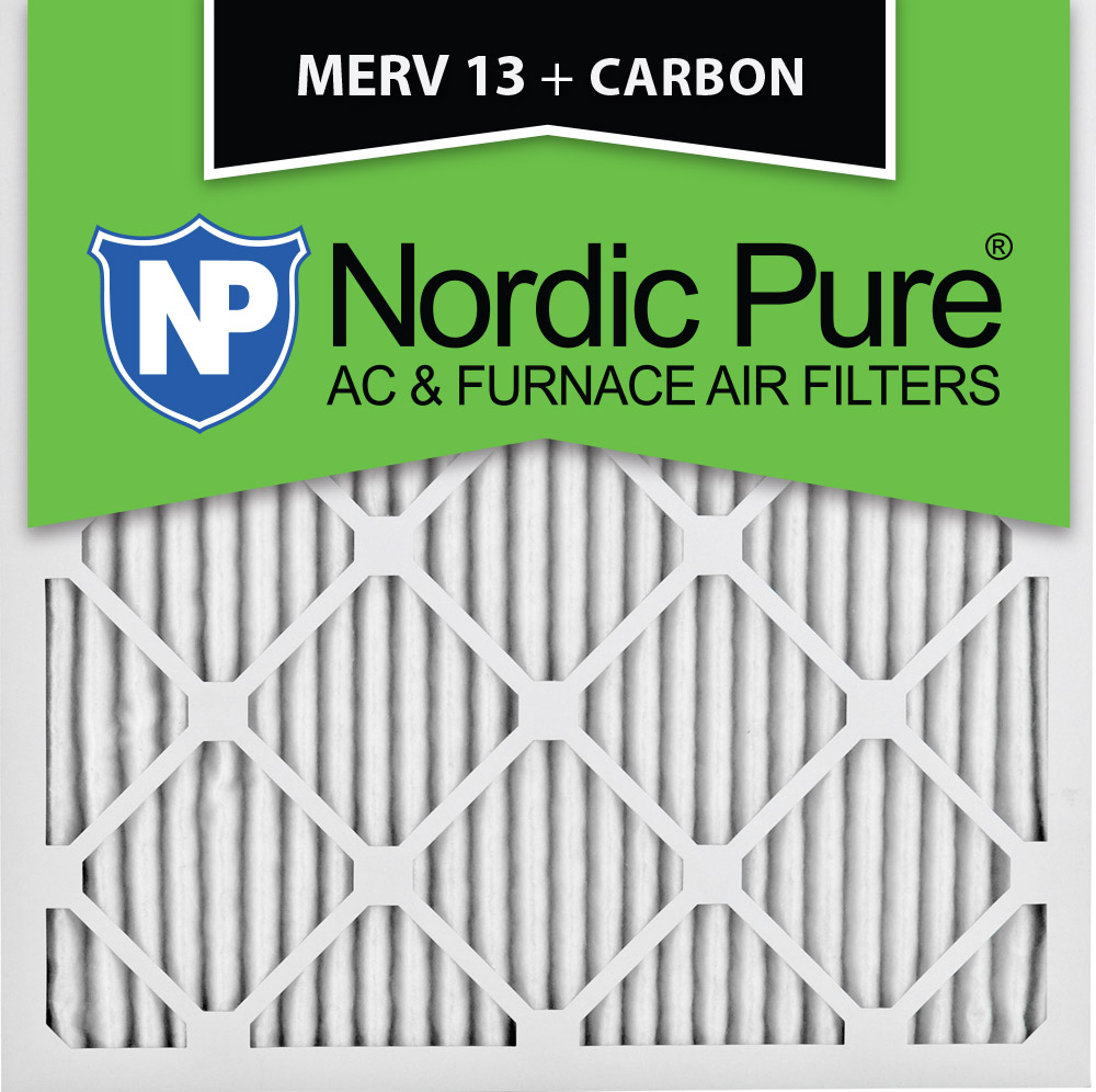 24x24x1 MERV 13 Plus Carbon AC Furnace Air Filters Qty 3