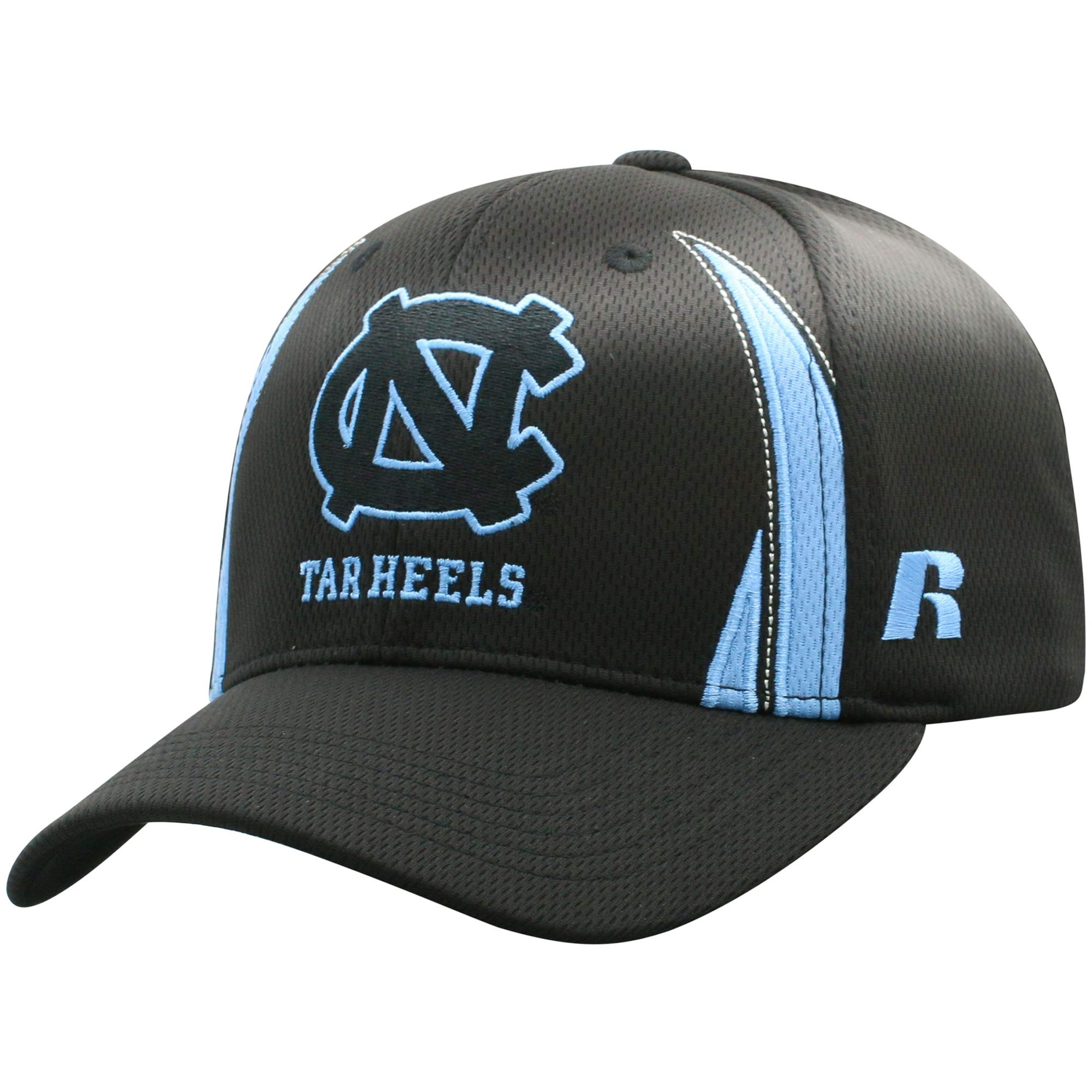 Men's Russell Black North Carolina Tar Heels React Adjustable Hat - OSFA