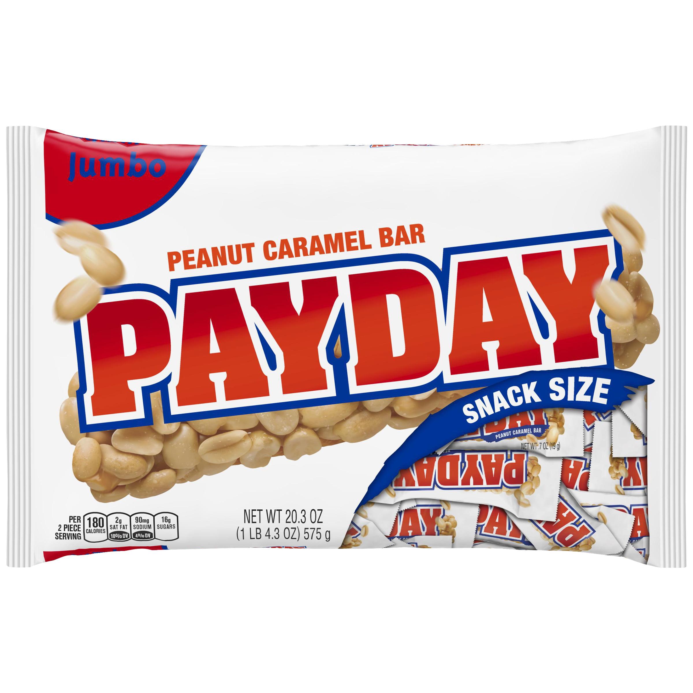 PAYDAY Snack Size Peanut Caramel Bars, 20.3 oz