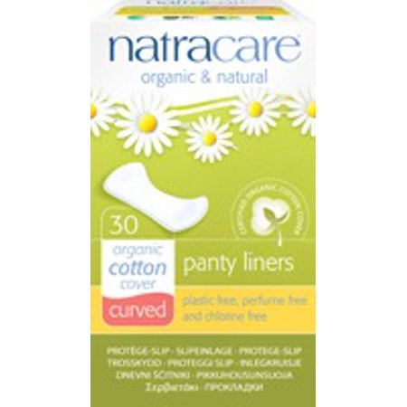 Panty Liners Curved 30ct Natracare 30 ct Panty Liner