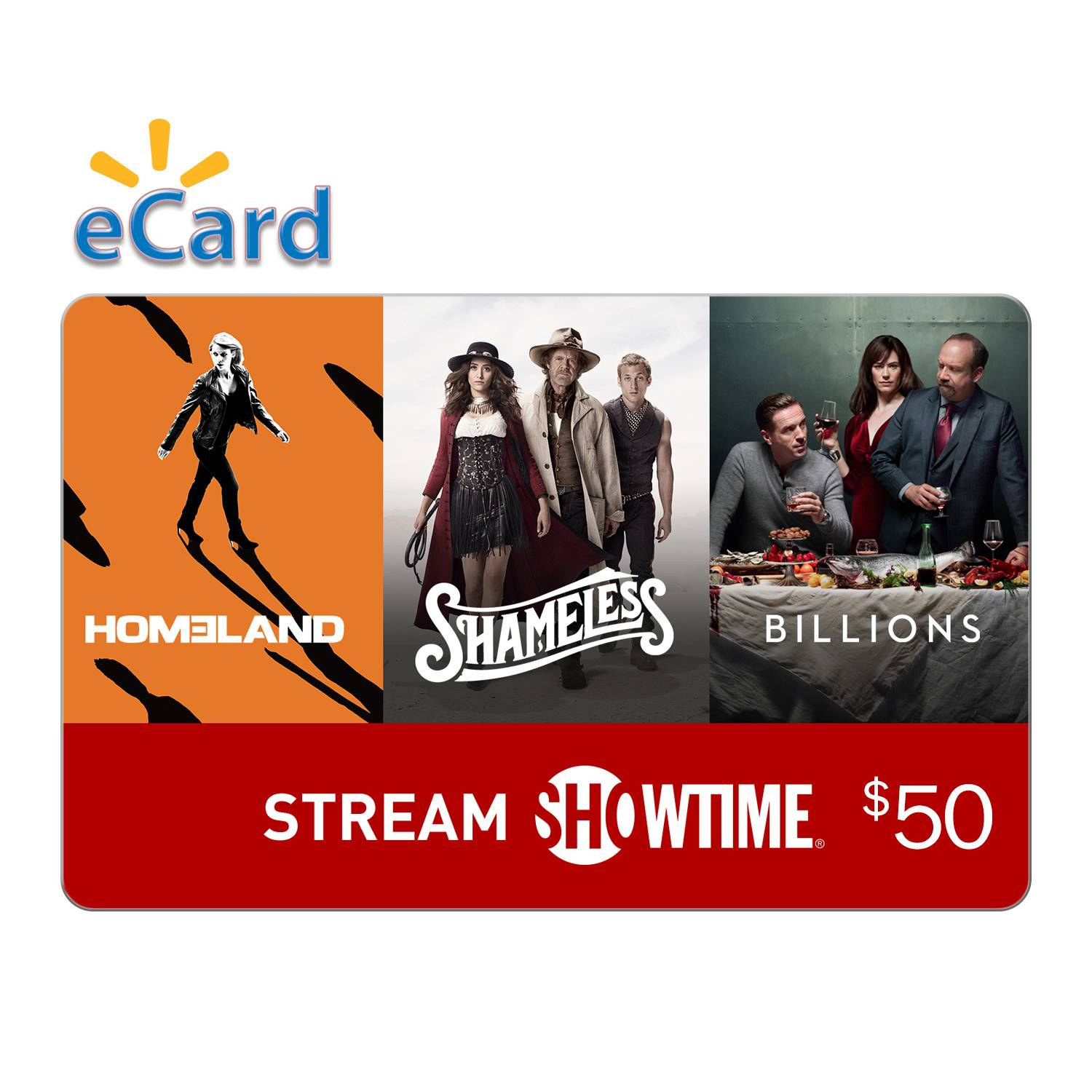 $50 Showtime Gift Card (Email Delivery)