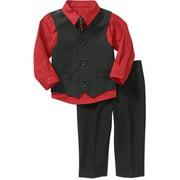 Newborn Boy 4-Piece Dressy Vest Set