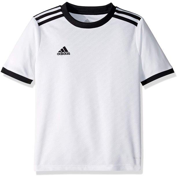 adidas Kids' Tiro Soccer Jersey, White/Black, Large, 100 ...