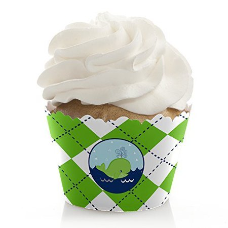 Tale Of A Whale - Baby Shower or Birthday Party Cupcake Wrappers - Set of 12](Baby Shower Cupcake Papers)