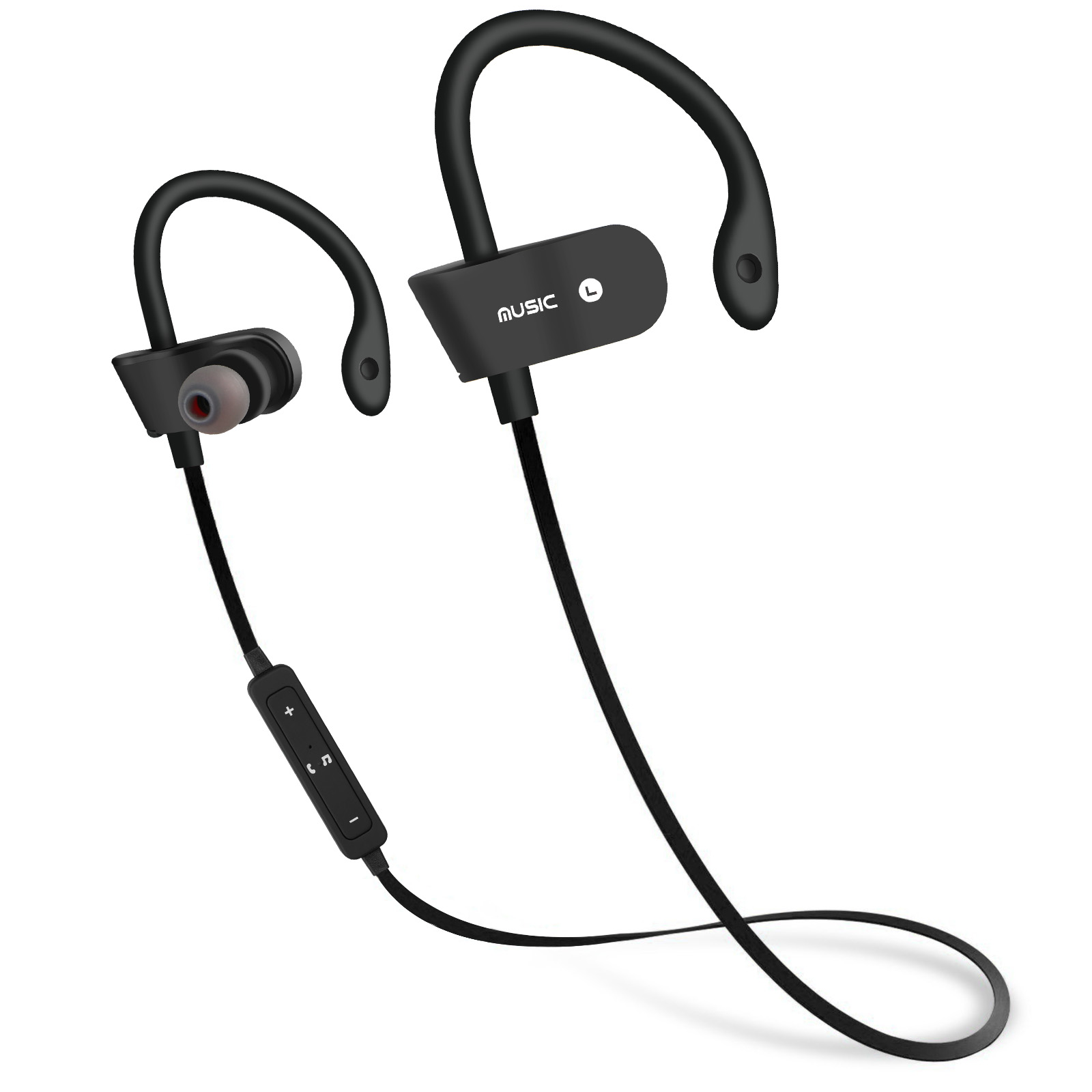 Wireless Bluetooth 4.1 Earphone Earbuds Sport Bass Stereo Surround In-Ear Headphone Headset with MIC Microphone Black
