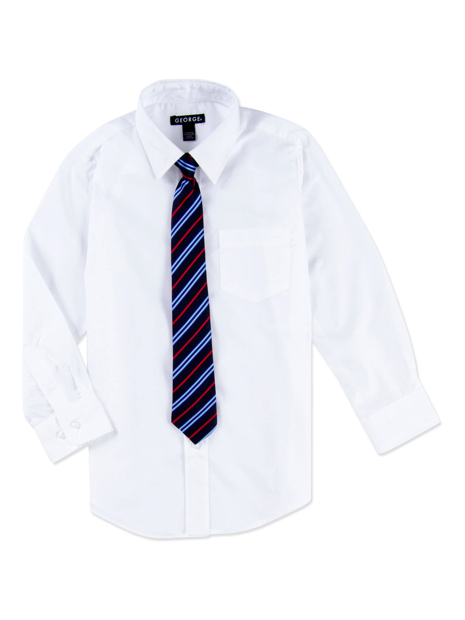 Boys Packaged Dress Shirt-Tie