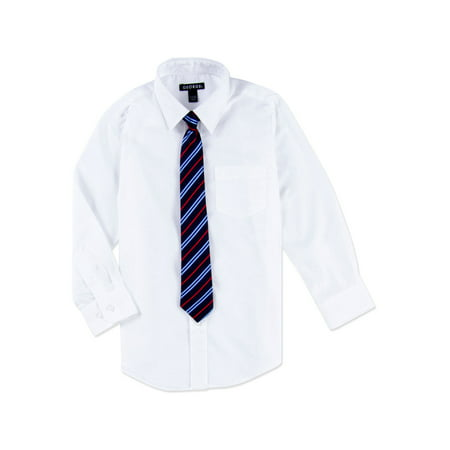 Boys Packaged Dress Shirt-Tie - Boys Dress Shorts