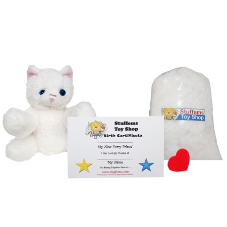 Make Your Own Stuffed Animal Mini 8 Inch Super Soft Cat Kit - No Sewing Required! - Make Your Own Cat