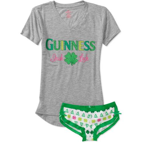 Juniors Irish Luck Guinness Shirt and Boy Short Set
