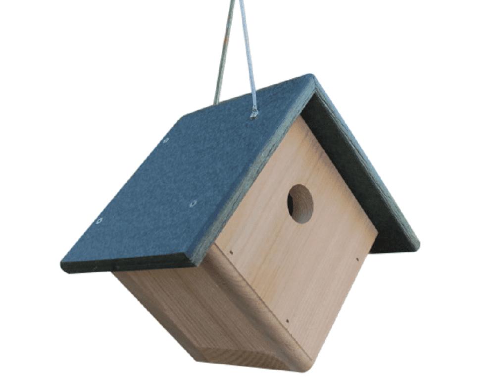 JCs Wildlife Cedar & Poly Wren, Chickadee, & Warbler Birdhouse, Green Roof by JCs Wildlife