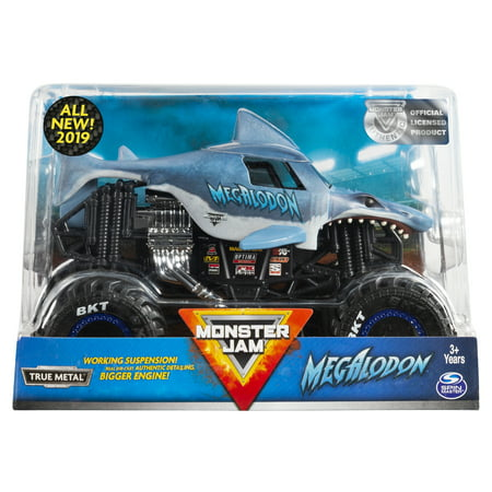 Monster Jam, Official Megalodon Monster Truck, Die-Cast Vehicle, 1:24 (Lot Monster Truck)