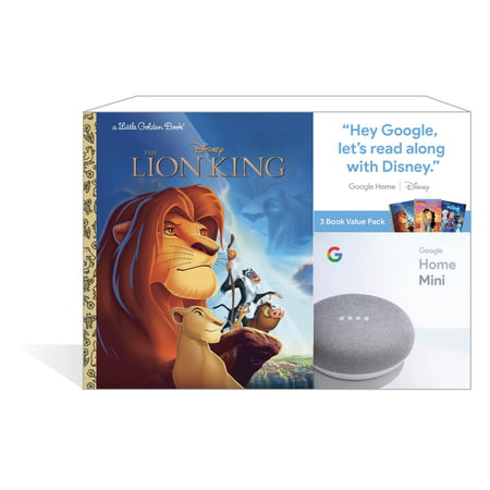 Google Home Mini (Chalk) + 3 Disney Little Golden Book