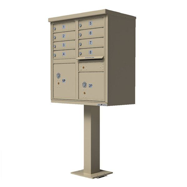 Florence Mailboxes 1570-8 Vital Type I Cluster Box Unit by Mailboxes