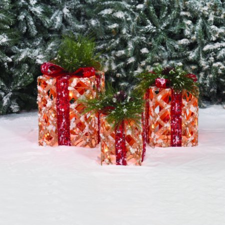 holiday time light up gift christmas boxes