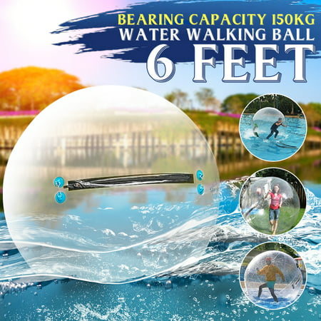 Football With Inflatable Balls (1.8M 6ft Inflatable Water Walking Ball Dance Roll PVC Tizip Zipper)