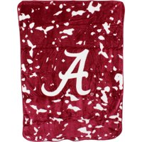 "College Covers Fan Shop Throws Alabama Crimson Tide 63"" x 86"" Soft Raschel Throw Blanket"