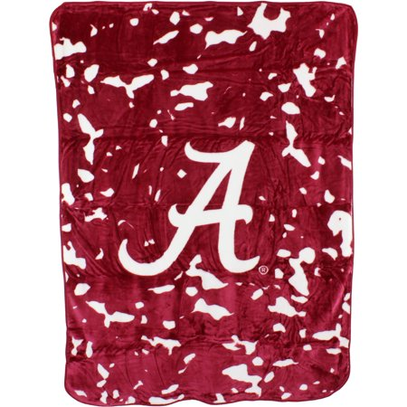 "College Covers Fan Shop Throws Alabama Crimson Tide 63"" x 86"" Soft Raschel Throw Blanket"