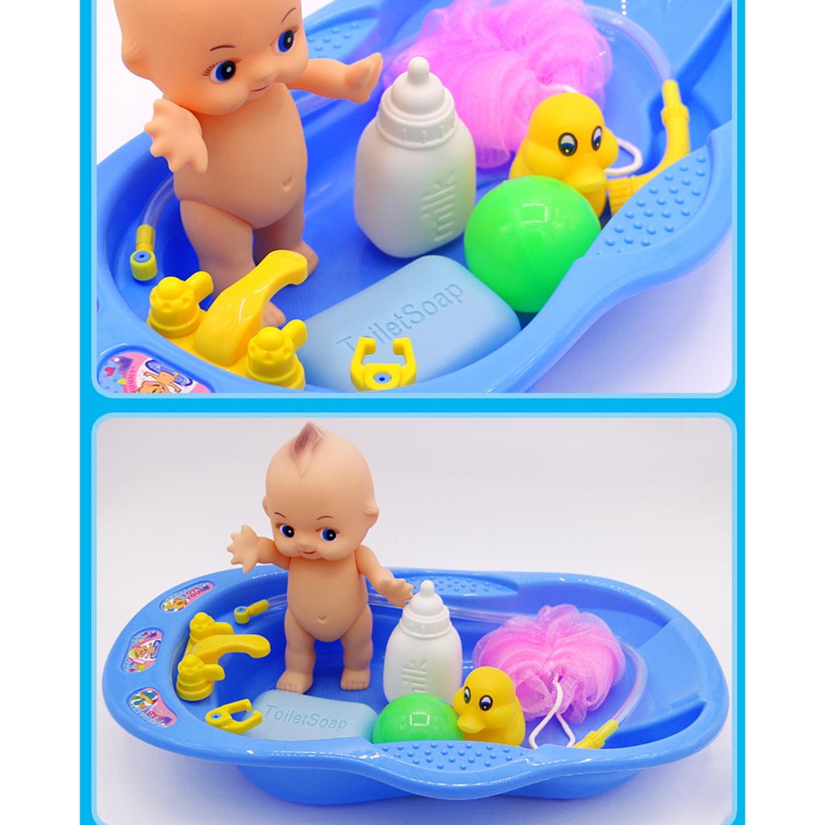 Outgeek Baby Shower Toys Bath Toy Set Baby Doll Pretend Play Bathtub ...