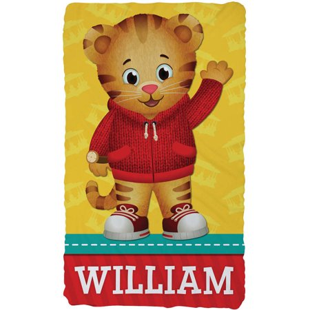 Personalized Daniel Tiger Kids' Throw Blanket - Hello Daniel - Daniel Tiger Fabric