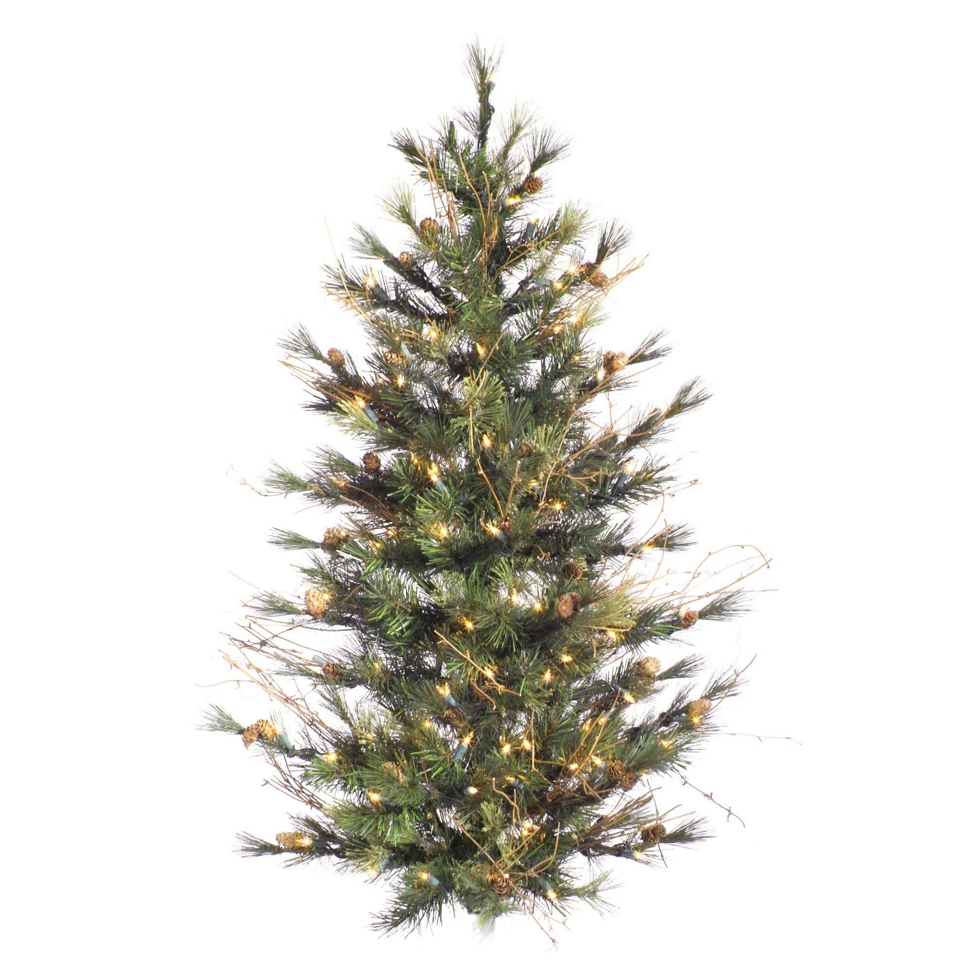 "Vickerman Artificial Christmas Tree 3' x 28"" Mixed Countr..."