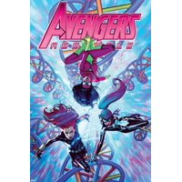 Avengers Assemble #21 Cover: Spider Woman, Black Widow, Spider-Girl Print Wall Art By Jorge Molina