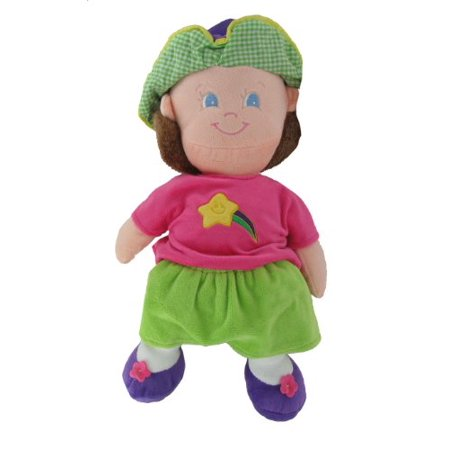 Plush 15 Inch Happy Kids Girl Star Themed Stuffed - Stuffed Dolls