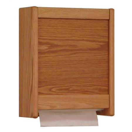 Multi-Fold/C-Fold Oak Paper Towel Dispenser (Light Oak)