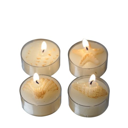 BalsaCircle 4 Caribbean Island Beach Candles - 4 Gift Boxes - Wedding Bridal Shower Party Favors Room Home Decorations -