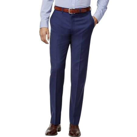 Ryan Seacrest Mens Wool Sharkskin Dress Pants