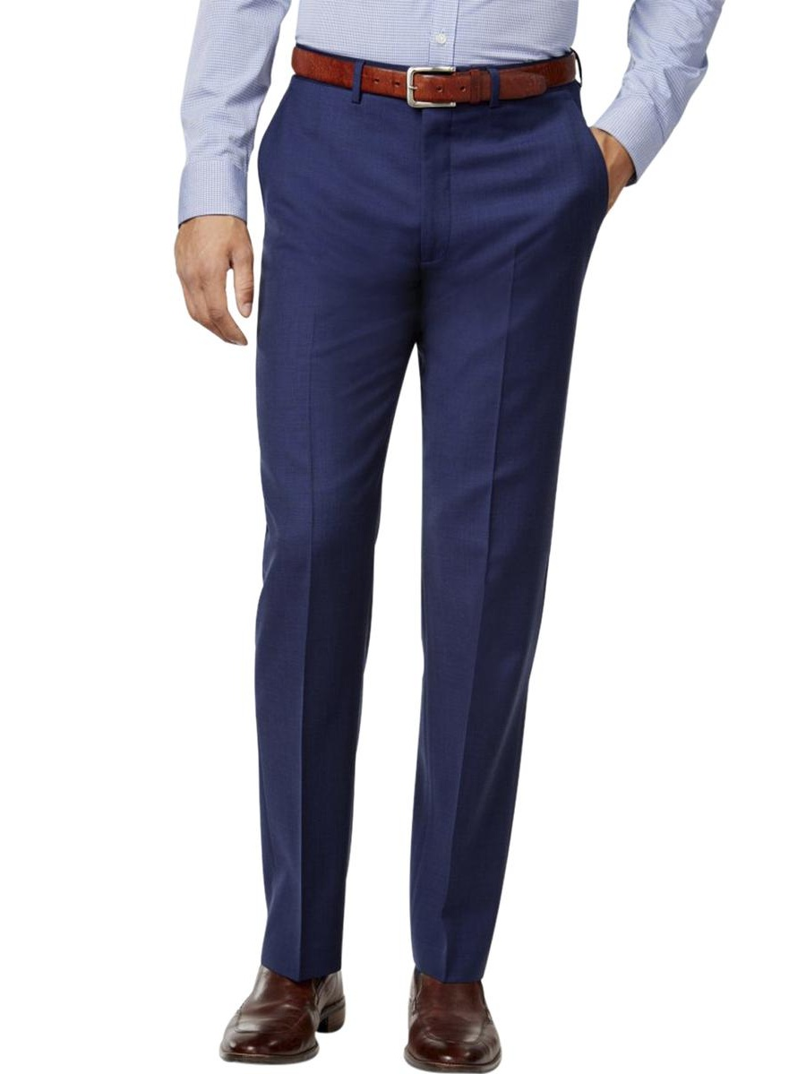 Ryan Seacrest Mens Wool Sharkskin Dress Pants