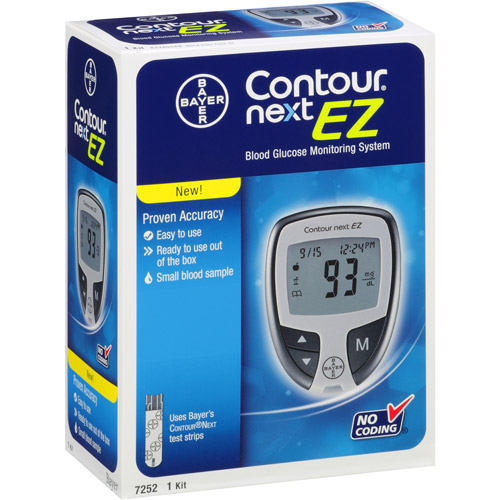 Bayer Contour Next EZ Blood Glucose Monitoring System Model, 7252