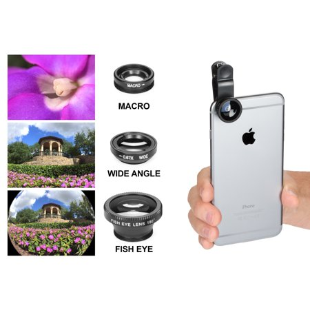 iBasics Universal Clip-on 3 in 1 Camera (Gold Circle Lenses)