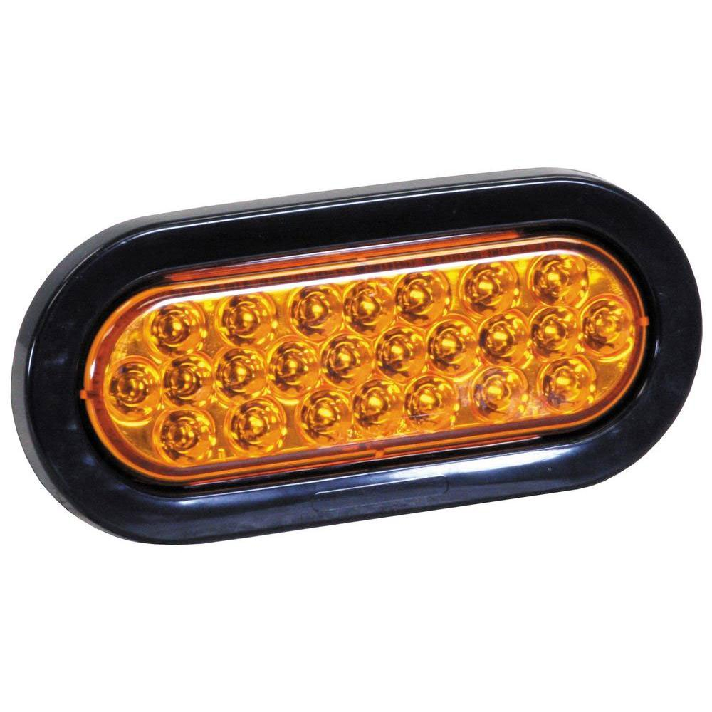 Buyers SL65AO 6 Inch Oval LED Recessed Water & Dust Resistant Amber Strobe Light