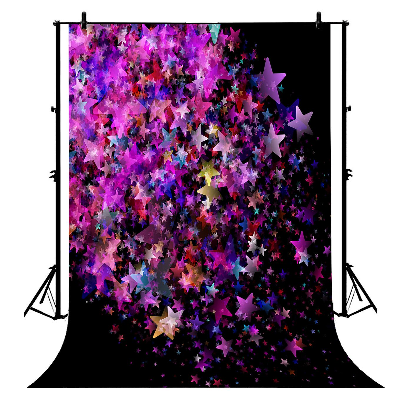 GCKG 7x5ft Colorful Star Twinkling Stars Polyester Photography Backdrop Photo Background Studio Props - image 4 of 4