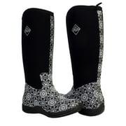 muck boots arctic adventure waterproof black swirl women's boots waa-swl