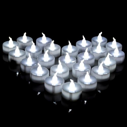 AGPtek Lot 60 Battery LED Cool White Tea Light Candle For Wedding Party Festival Decoration Occasions