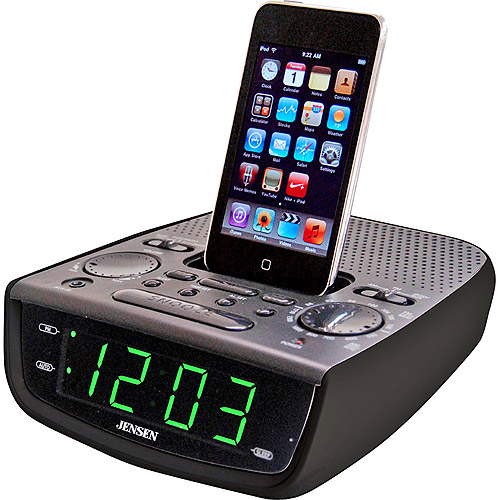 Jensen Digital Alarm Clock Radio with iPod Dock