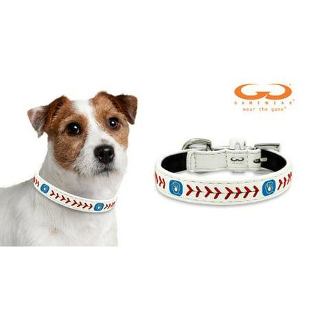 855513430 Milwaukee Brewers Retro Classic Leather Toy Baseball Collar ...