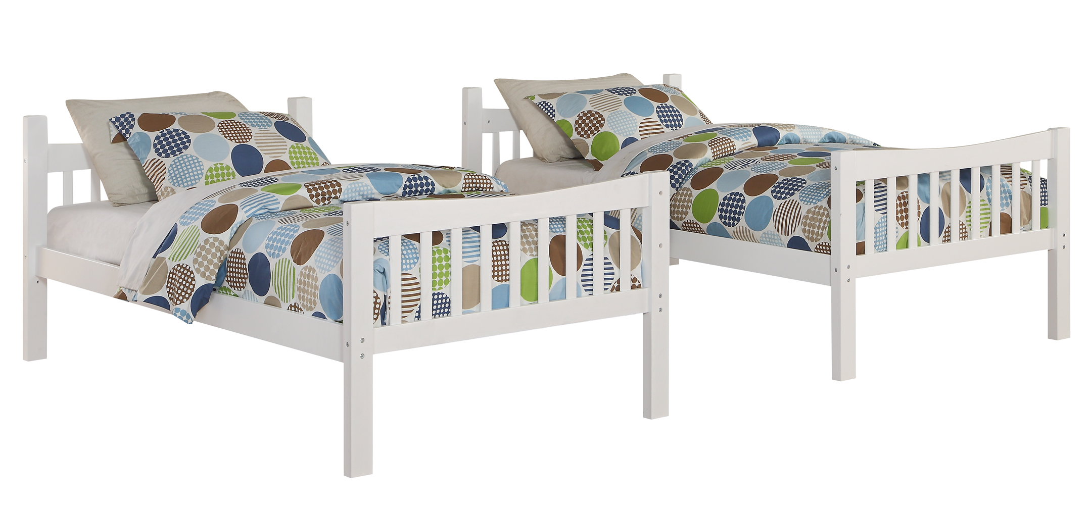 Angel Line Wooden Bed Fremont Twin Over Twin Bunk Bed