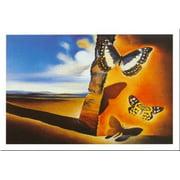 Paysage AuxPapillons by Salvador Dali 24x31 Art Print Poster